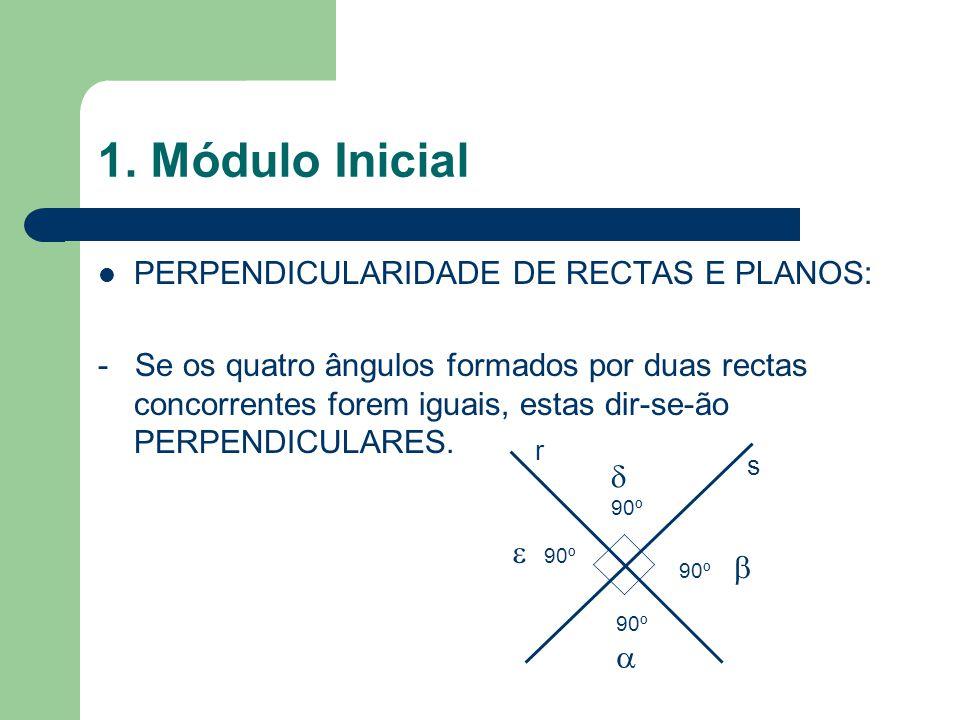 1. Módulo Inicial PERPENDICULARIDADE DE RECTAS E PLANOS: