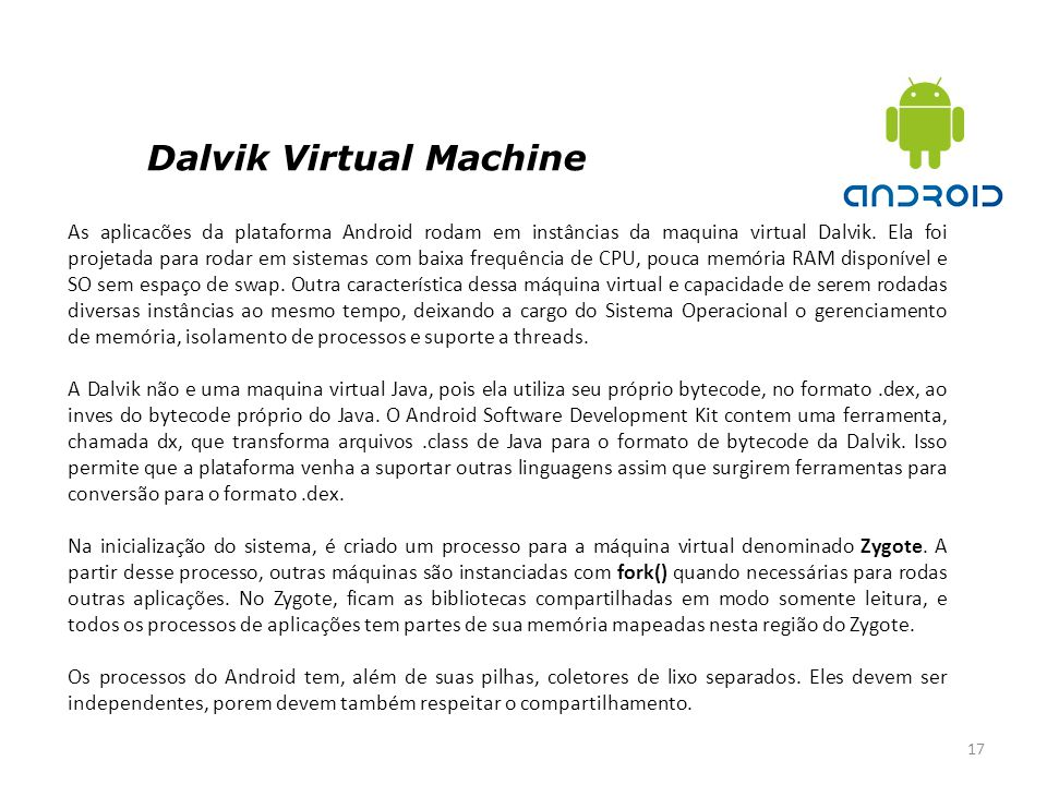 Dalvik Virtual Machine