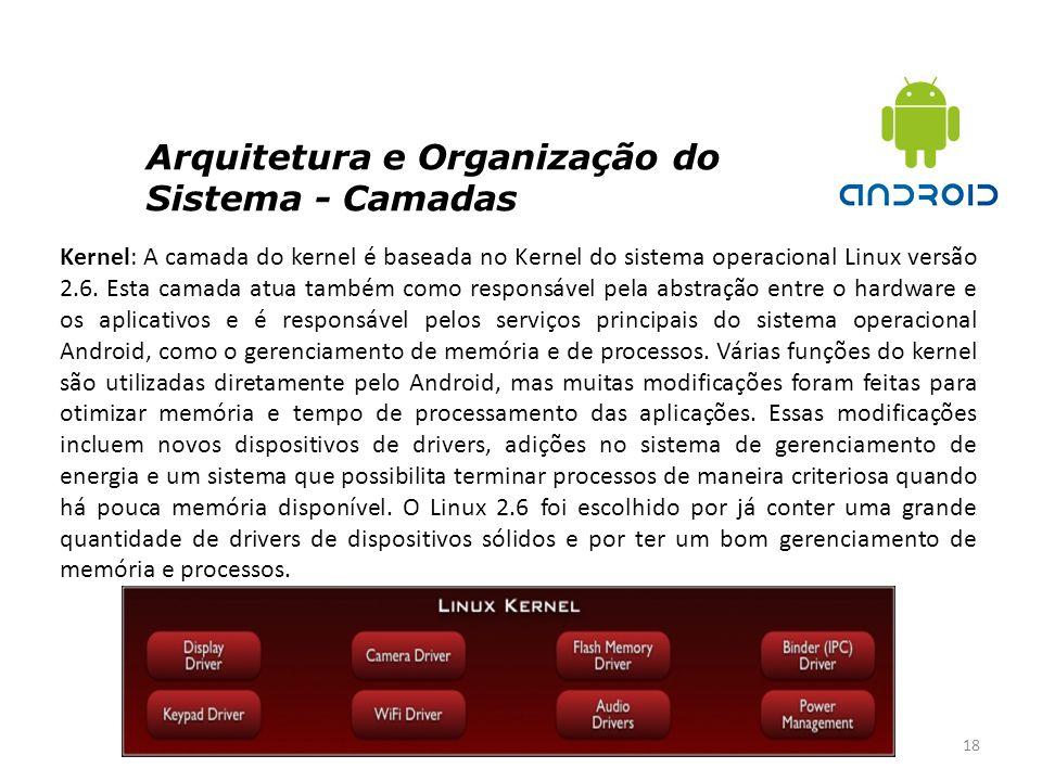 Arquitetura e Organização do Sistema - Camadas