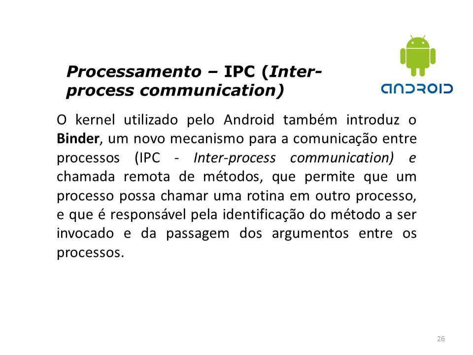 Processamento – IPC (Inter-process communication)