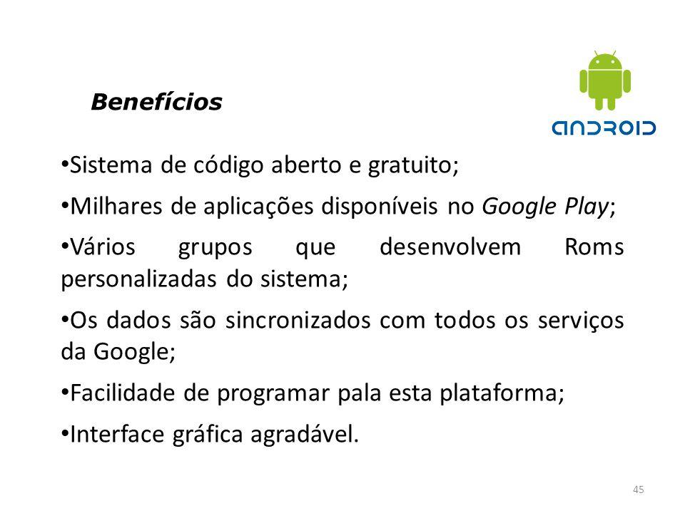 Sistema de código aberto e gratuito;