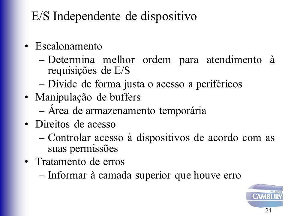 E/S Independente de dispositivo