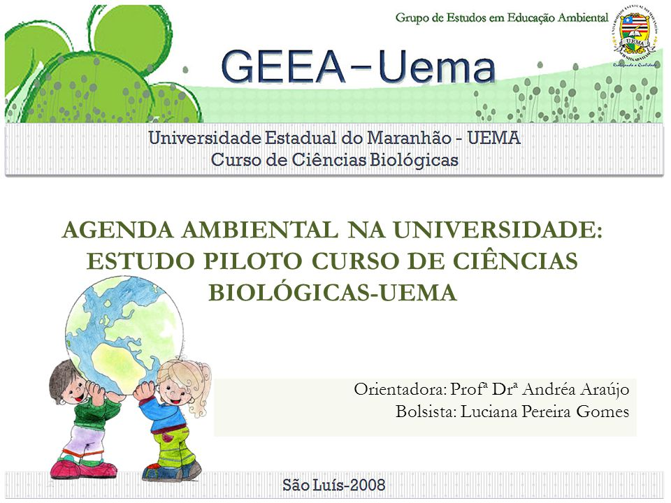 Orientadora: Profª Drª Andréa Araújo Bolsista: Luciana Pereira Gomes