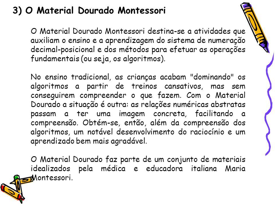 3) O Material Dourado Montessori
