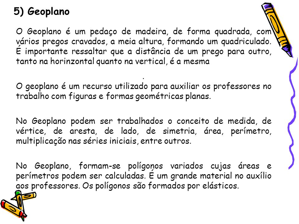 5) Geoplano