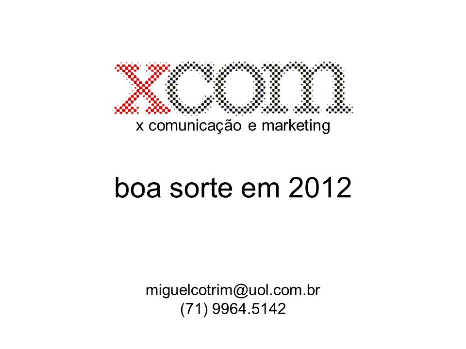 x comunicação e marketing