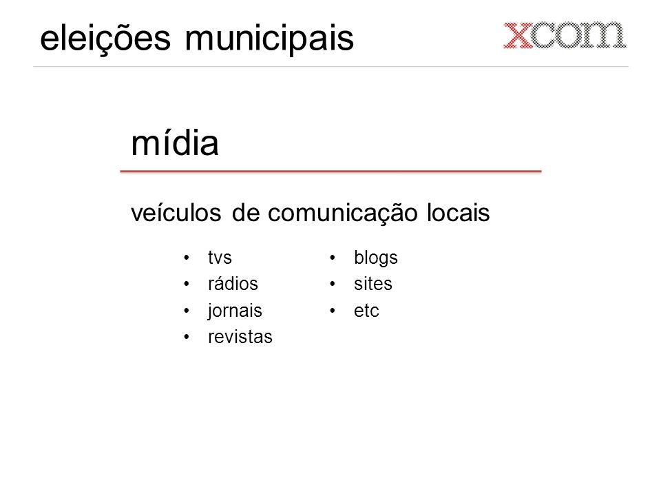 eleições municipais mídia veículos de comunicação locais tvs rádios