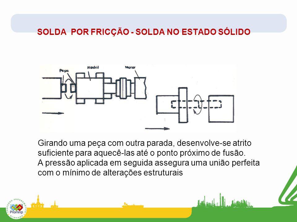 SOLDA POR FRICÇÃO - SOLDA NO ESTADO SÓLIDO