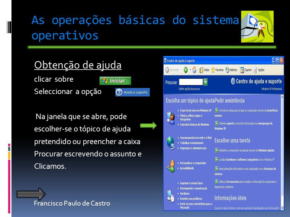 As operações básicas do sistema operativos