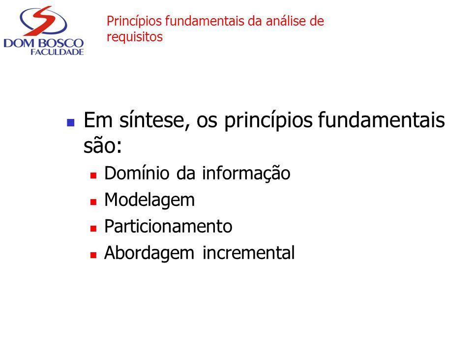 Princípios fundamentais da análise de requisitos
