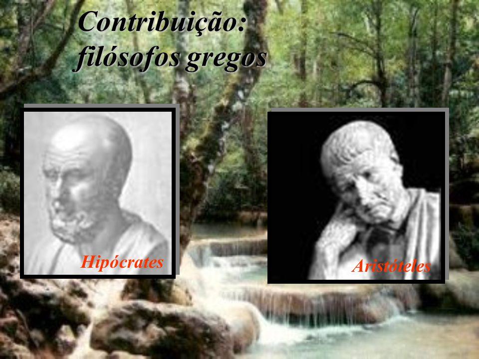 Contribuição: filósofos gregos Hipócrates Aristóteles