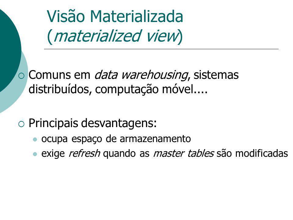 Visão Materializada (materialized view)