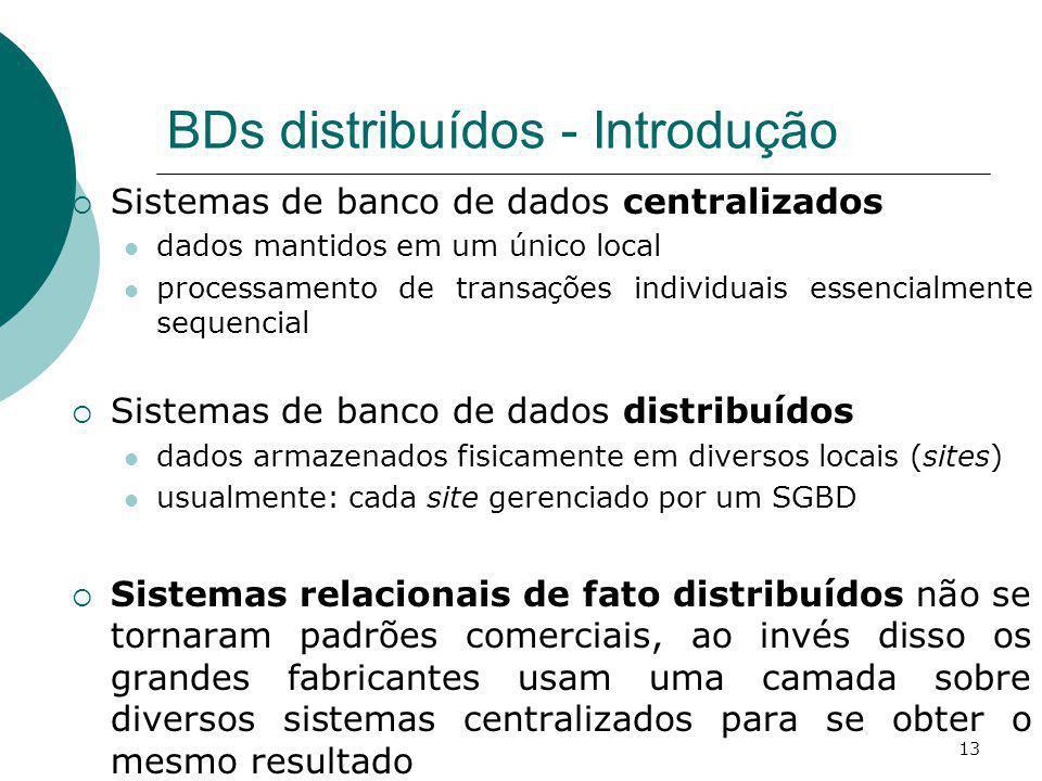 BDs distribuídos - Introdução