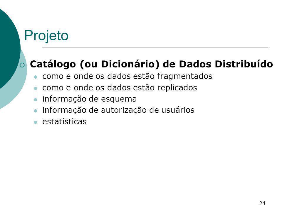 Projeto Catálogo (ou Dicionário) de Dados Distribuído
