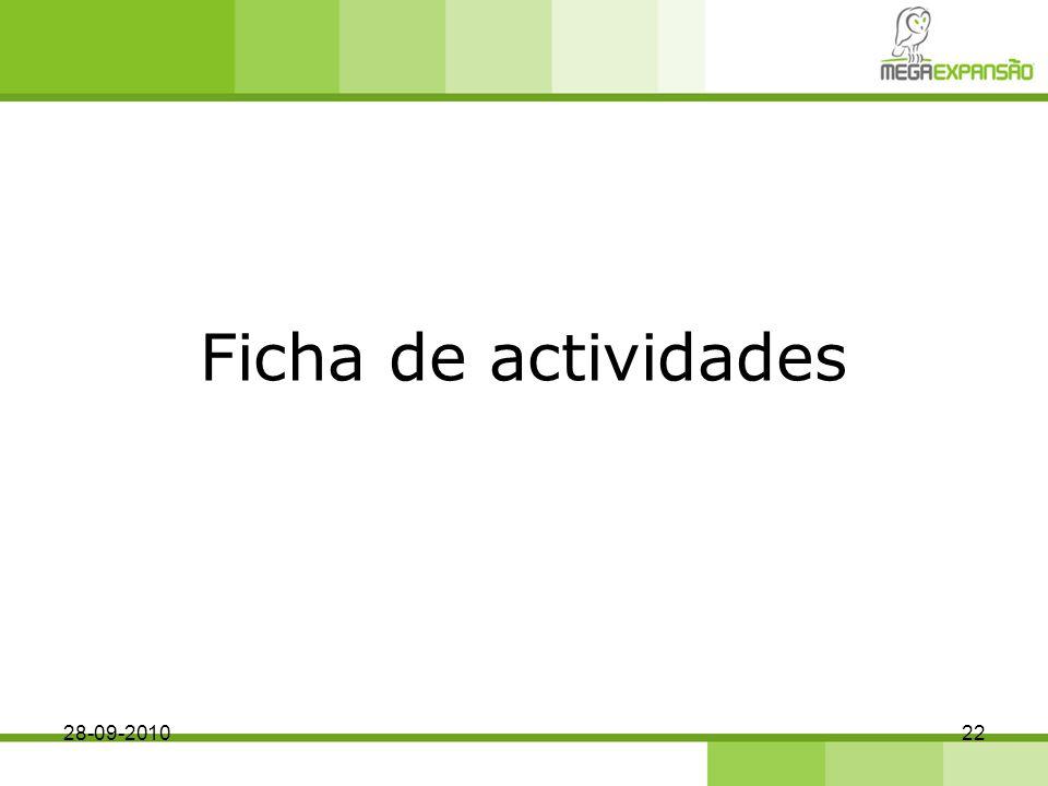 Ficha de actividades 28-09-2010