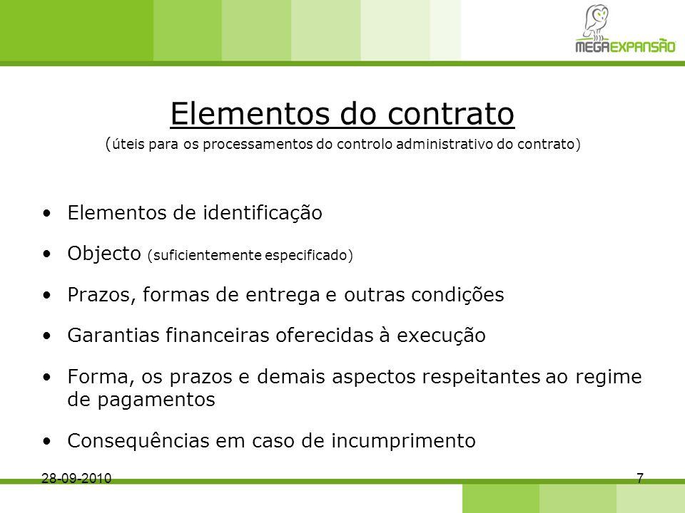 (úteis para os processamentos do controlo administrativo do contrato)