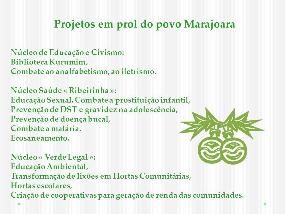 Projetos em prol do povo Marajoara
