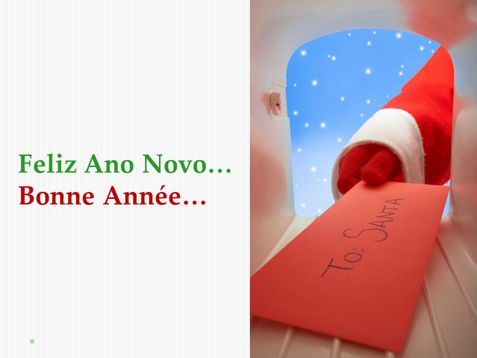 Feliz Ano Novo… Bonne Année…
