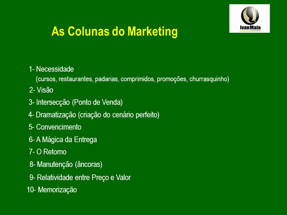 As Colunas do Marketing
