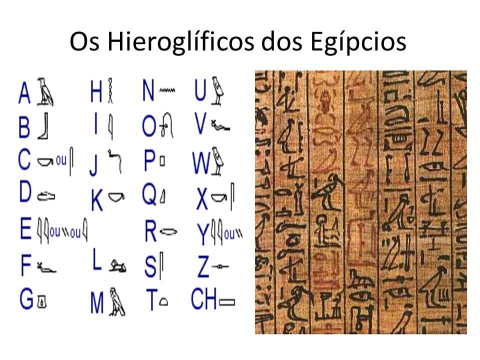 Os Hieroglíficos dos Egípcios