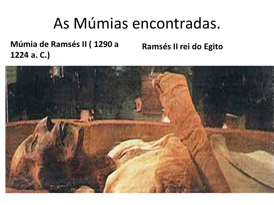 As Múmias encontradas. Ramsés II rei do Egito