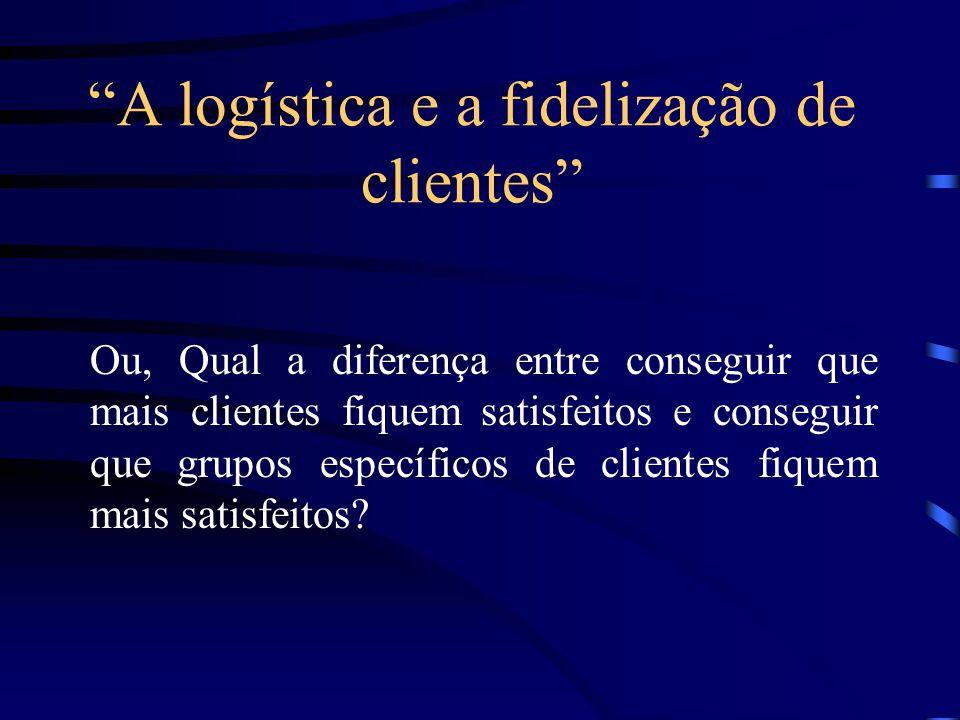 A logística e a fidelização de clientes