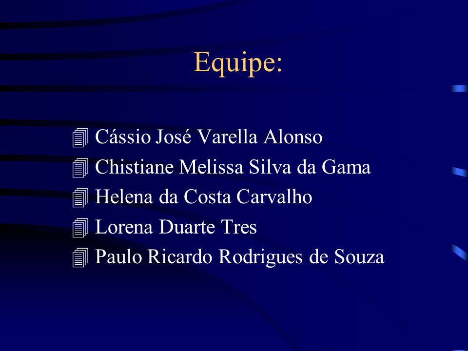 Equipe: Cássio José Varella Alonso Chistiane Melissa Silva da Gama