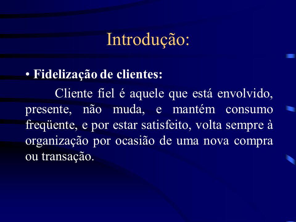 Introdução: Fidelização de clientes: