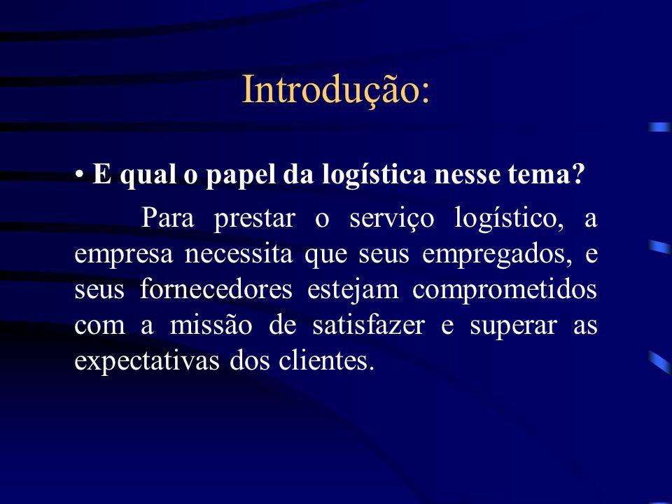 Introdução: E qual o papel da logística nesse tema