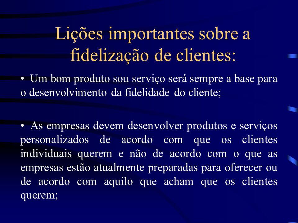 Lições importantes sobre a fidelização de clientes: