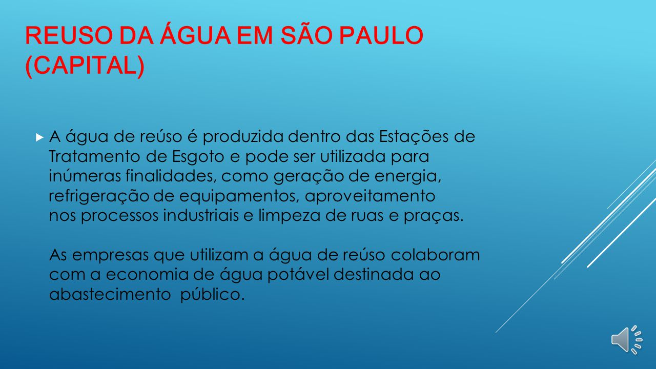Reuso da Água em São Paulo (Capital)