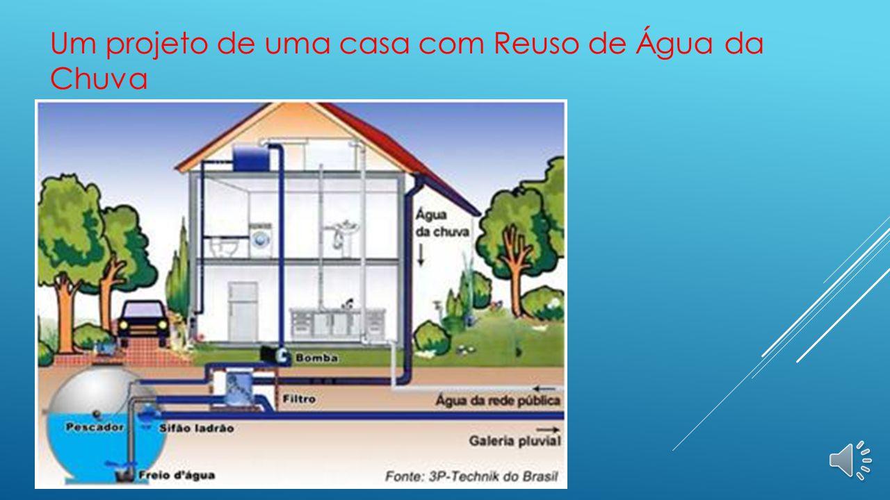 Um projeto de uma casa com Reuso de Água da Chuva