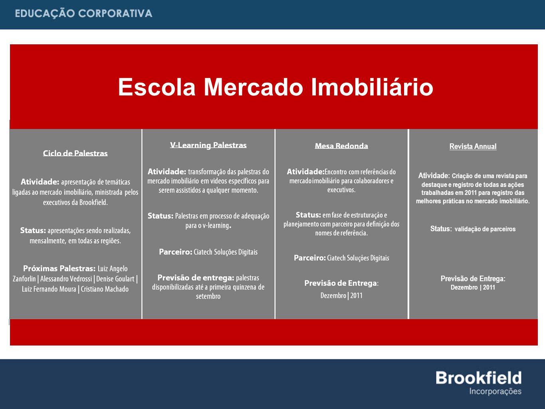 Escola Mercado Imobiliário Status: validação de parceiros
