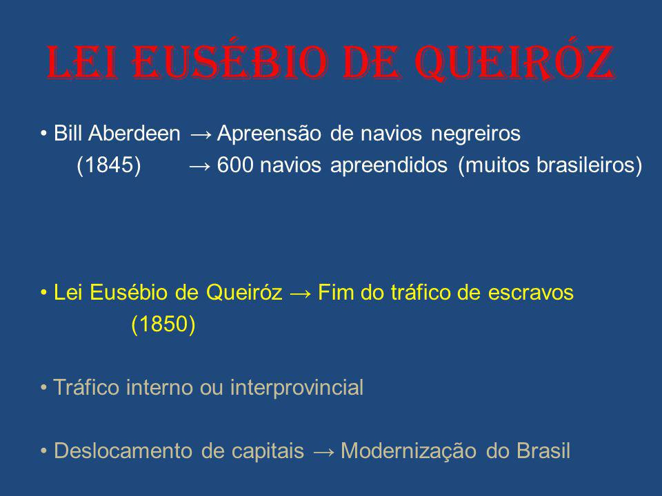 LEI EUSÉBIO DE QUEIRÓZ