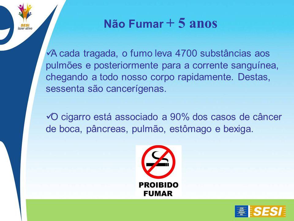 Não Fumar + 5 anos