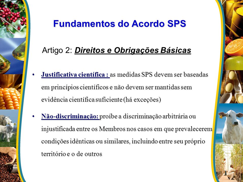 Fundamentos do Acordo SPS