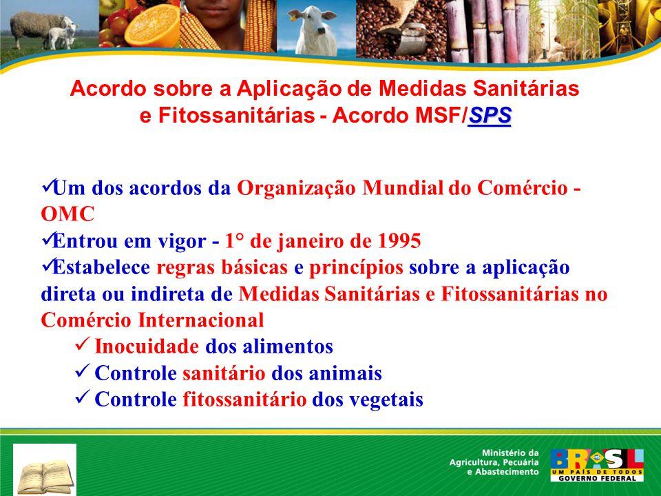 Acordo sobre a Aplicação de Medidas Sanitárias e Fitossanitárias - Acordo MSF/SPS