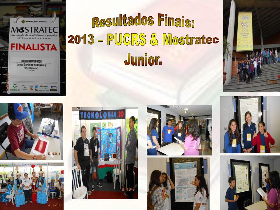 Resultados Finais: 2013 – PUCRS & Mostratec Junior.
