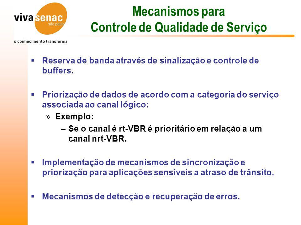 Mecanismos para Controle de Qualidade de Serviço