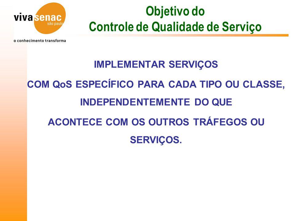 Objetivo do Controle de Qualidade de Serviço