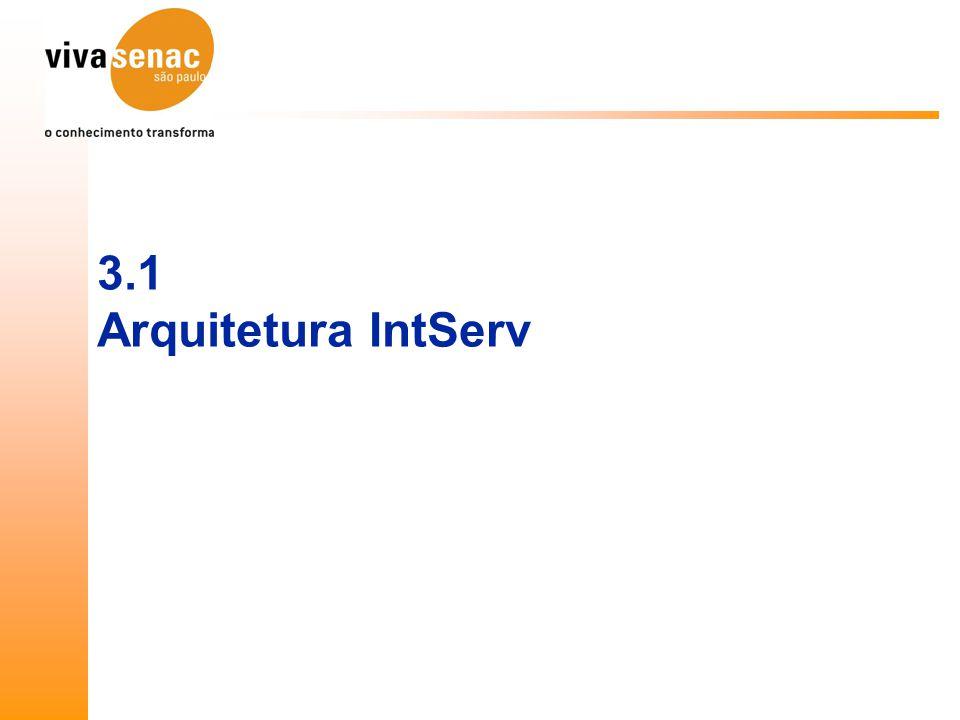 3.1 Arquitetura IntServ