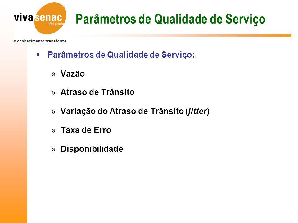 Parâmetros de Qualidade de Serviço