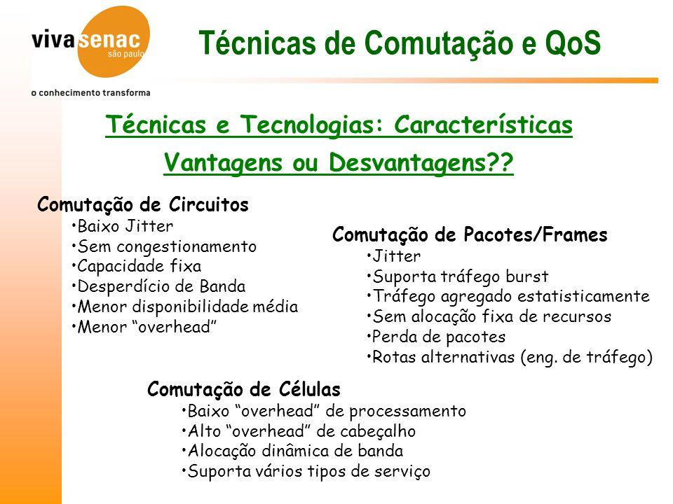 Técnicas de Comutação e QoS