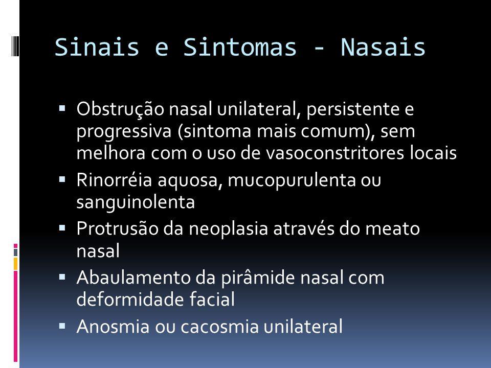 Sinais e Sintomas - Nasais