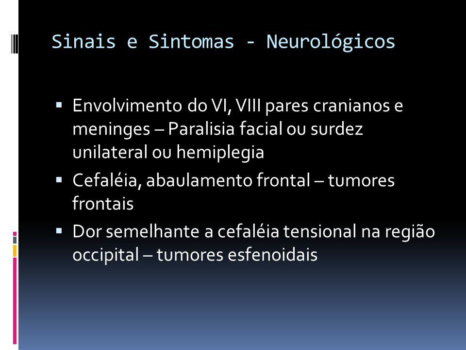 Sinais e Sintomas - Neurológicos