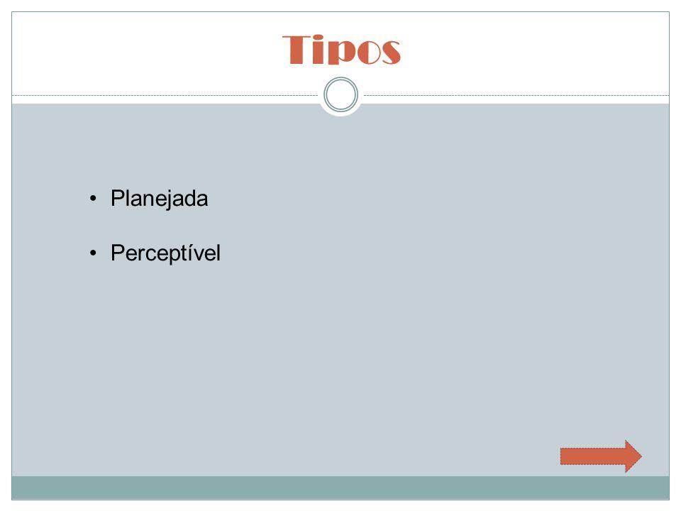Tipos Planejada Perceptível