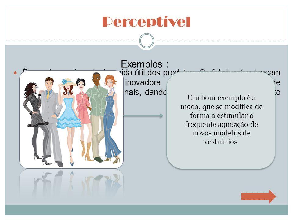 Perceptível Exemplos :