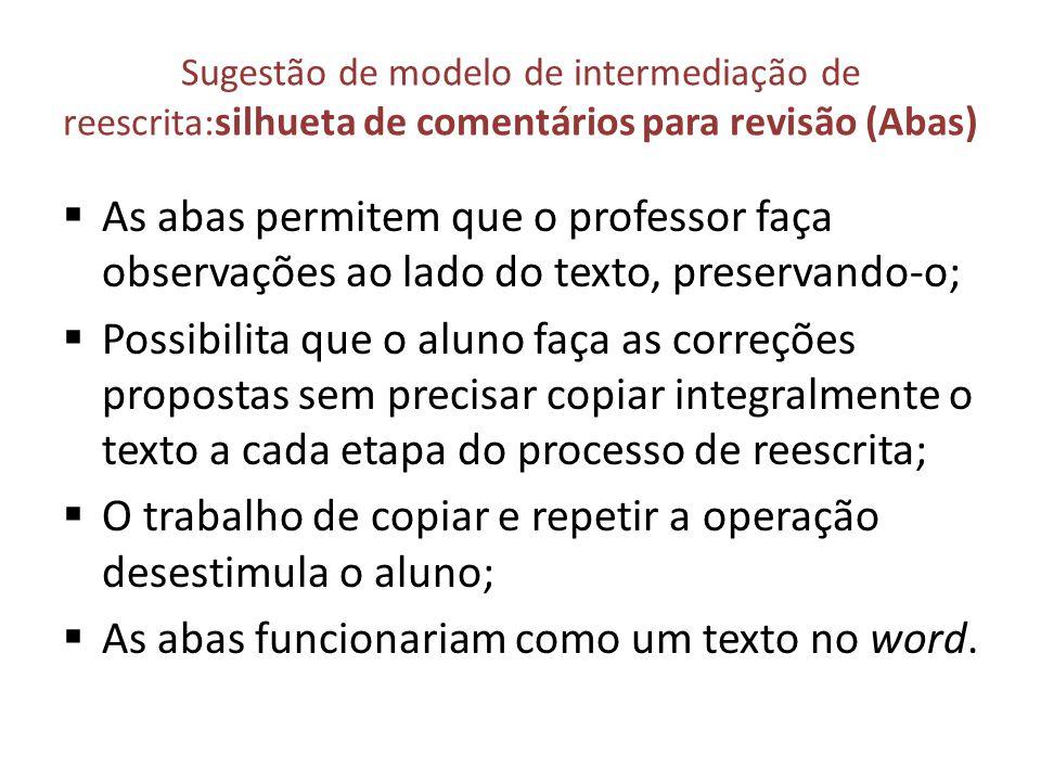 O trabalho de copiar e repetir a operação desestimula o aluno;