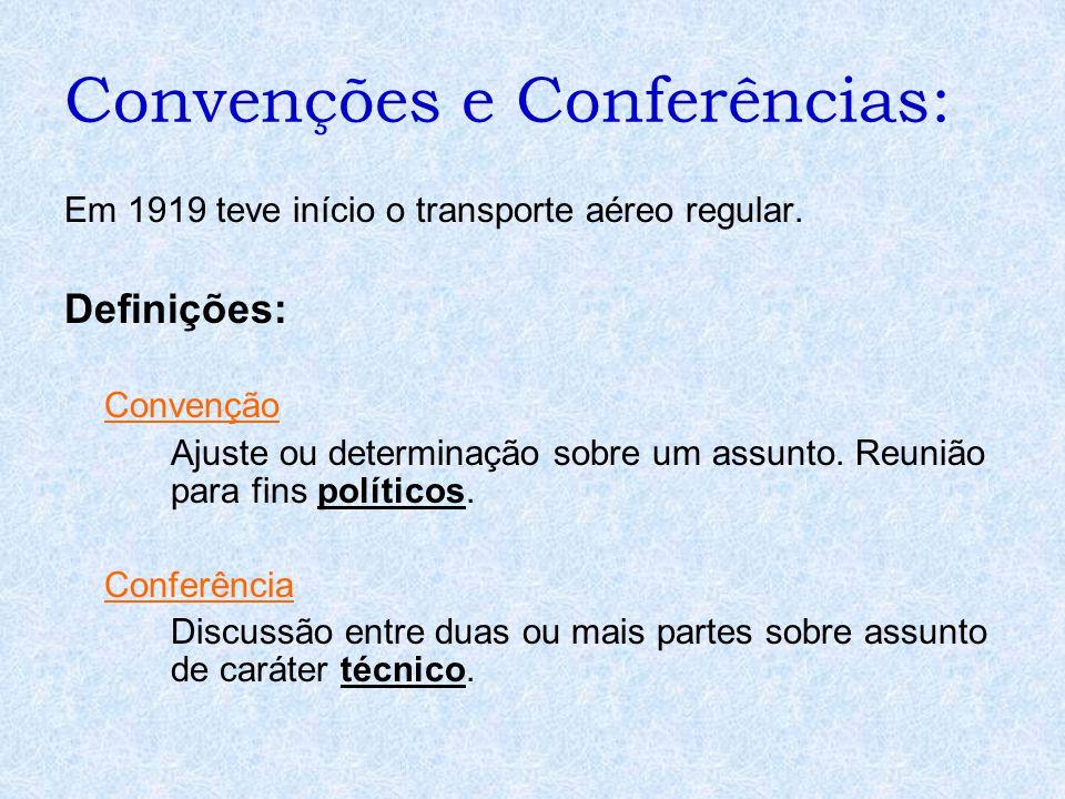 Convenções e Conferências: