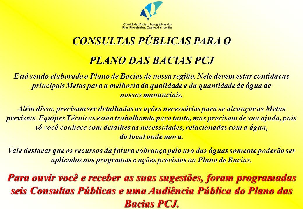 CONSULTAS PÚBLICAS PARA O